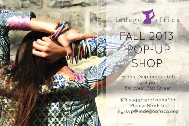 Indego Africa Ny Pop Up Shop invitation