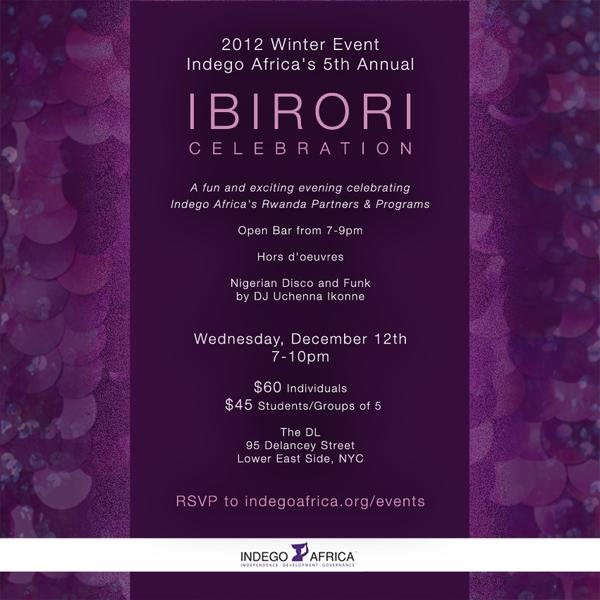 indego africa ibirori! invitation