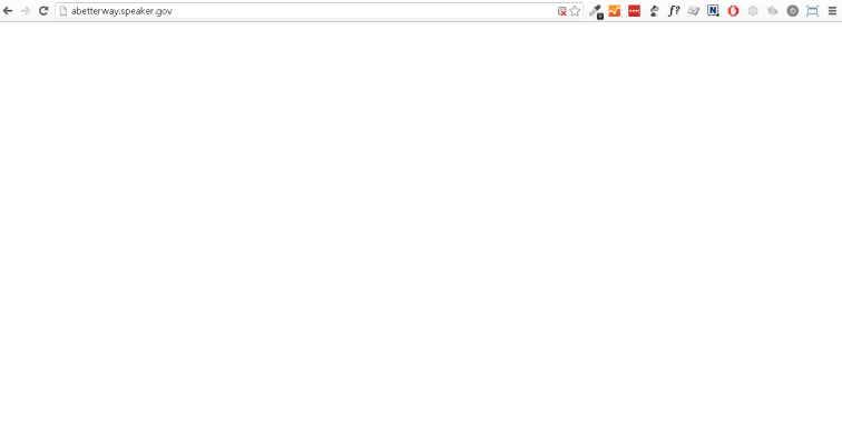 screencap of a blank screen of abetterway.gov when javascript is turned off