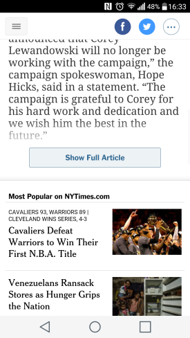 screencap of new york times mobile site with a show more button